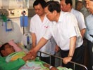 副总理张德江看望伤员