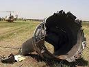 散落在农田的飞机残骸