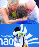 张琳破世界纪录,jaked泳衣,2009罗马游泳世锦赛,世锦赛,比德尔曼,游泳世锦赛,菲尔普斯,泳衣爆裂