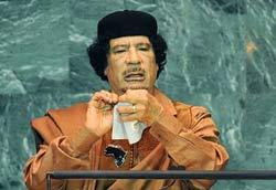 卡扎菲撕毁联合国宪章