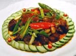 美食厨房,广州金椰雨林餐厅,海南菜,广州美食,干煸海底花东山羊,美食图片