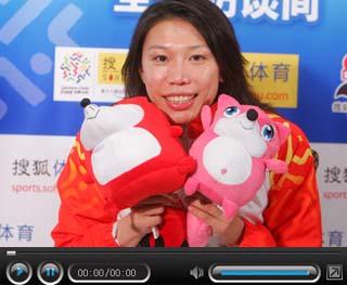 女蛙王齐晖做客搜狐 身体状态决定是否退役