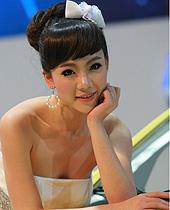 长安模特组图,广州车展