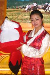 甘肃展台演员与狐狐的合影