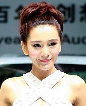 奥迪展台模特组图,广州车展