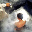 日本各式各样的裸汤温泉