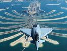 """战机掠过""""棕榈岛"""""""