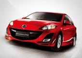 进口Mazda3两厢前侧45度