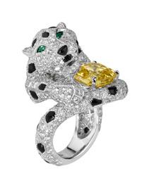 Cartier豹系列 高级珠宝戒指