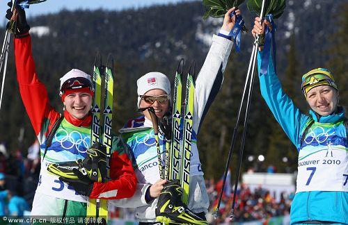 冬两女子个人博格夺冠