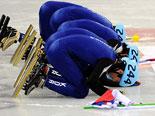 韩国队下跪,温哥华冬奥会
