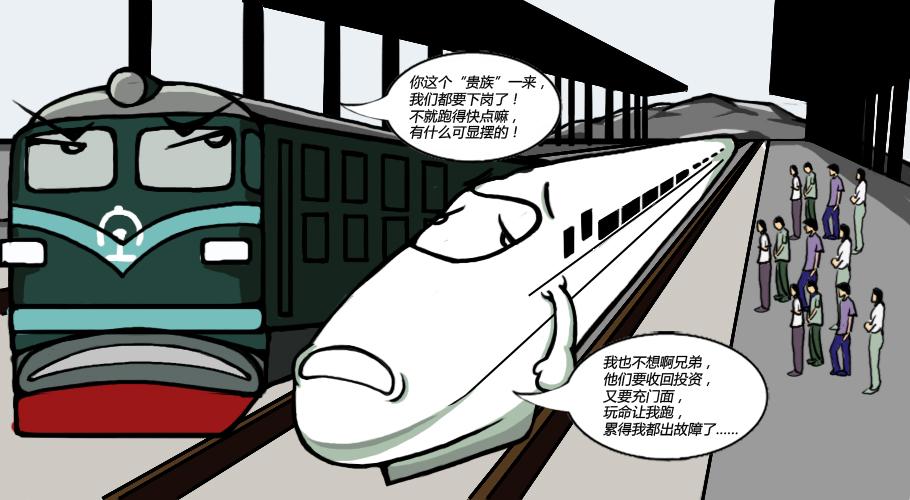 火车铅笔画