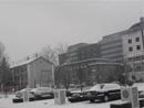 北京降雪地面积雪较厚