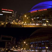 加拿大多伦多:罗杰斯中心熄灯前后