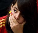 西班牙美女球迷失落