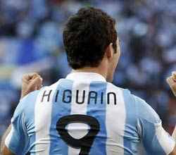伊瓜因,南非世界杯,阿根廷vs韩国