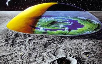 月球上的玻璃罩
