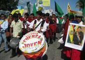 直击坎昆气候大会:街头游行:土著伸张原住民权益
