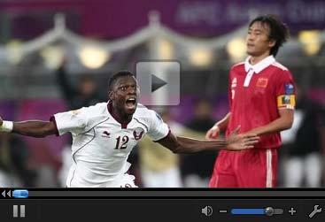 视频集锦-锋煞世界波梅开二度 国足0-2负卡塔尔