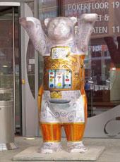 角子机造型的柏林熊