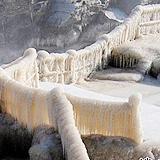 世界上最大黄色瀑布 黄河冰瀑
