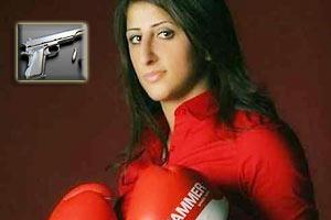 视频-德女拳王更衣室遭继父枪击 手掌膝盖中枪
