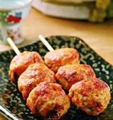 泡菜鸡肉丸