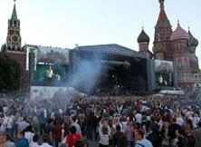 变形金刚3-林肯公园空降莫斯科红场