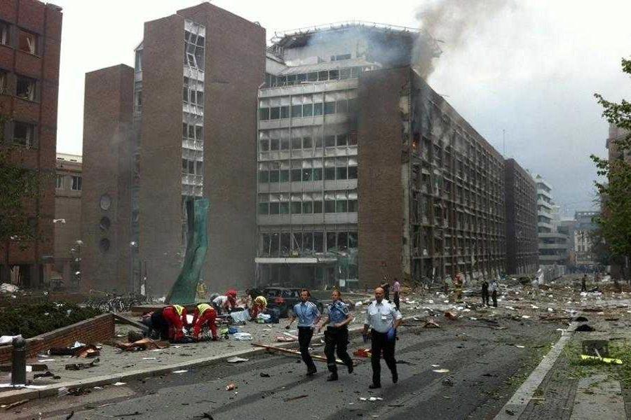 挪威政府办公大楼(爆炸前)