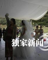 阿朵幸运抢到新娘捧花