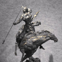 典美艺术发展有限公司 何健君铸铜作品-势不可挡
