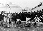 1896年雅典奥运会 蹲踞式