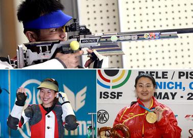朱启南,易思玲,陈颖,中国射击队,伦敦奥运会