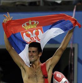 塞尔维亚旗手德约科维奇