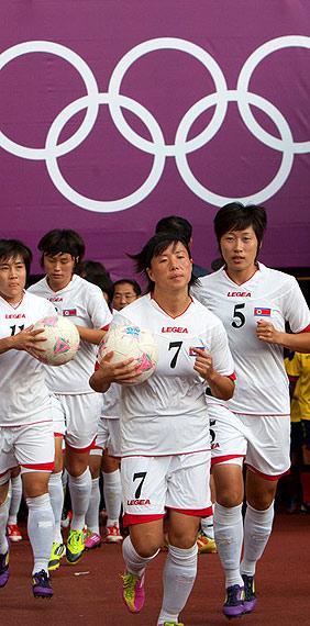 朝鲜女足队员