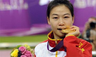 易思玲女子10米气步枪夺冠 摘伦敦奥运会首金
