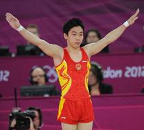 邹凯自由体操成功卫冕