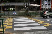 新加坡南华小学周边加强型垫高人行横道