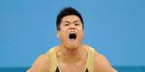 举重男子77公斤级 吕小军金牌