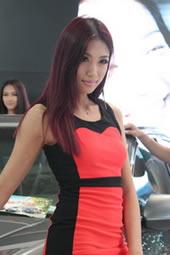 山东国际车展美女车模