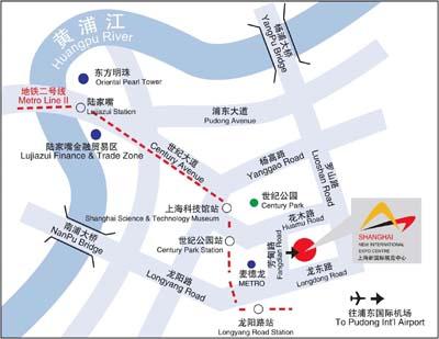 博览会交通地图