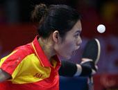 乒乓球女单1-2级刘静夺冠