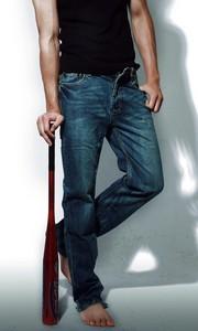 正艮原创设计经典牛仔裤