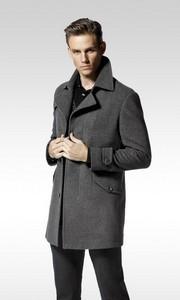 狄亚诺商务羊毛呢大衣
