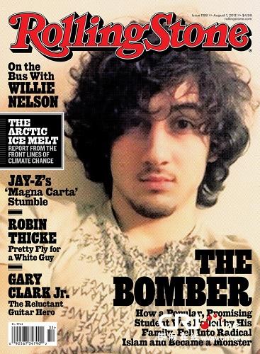 波士顿爆炸案嫌犯登上《滚石》杂志封面引抨击(高清组图)