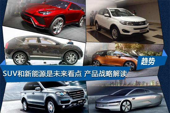 SUV和新能源是未来看点 自主新产品战略解读