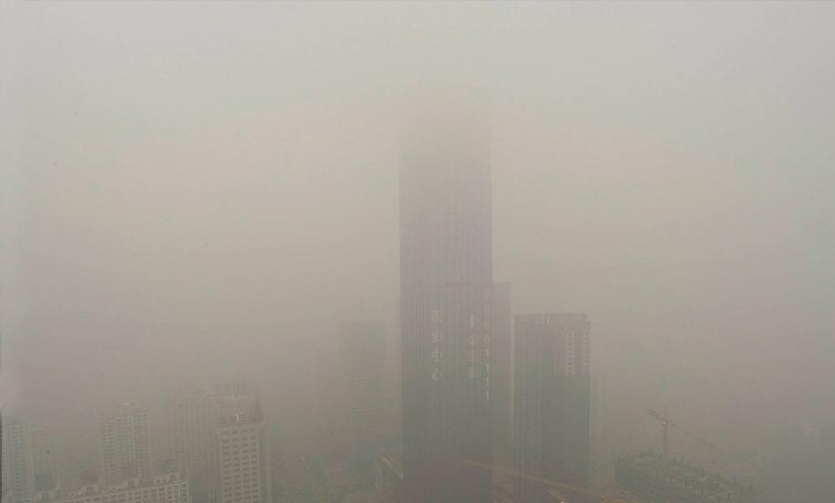 图片对比:雾霾中的沈阳(华尔街日报)-搜狐财经