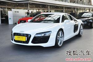 奥迪R8现车白色最高优惠23.5万
