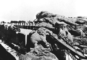 守卫卢沟桥的29军士兵英勇抵抗日军入侵