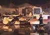 实拍山东食品厂起火车间被烧成废墟